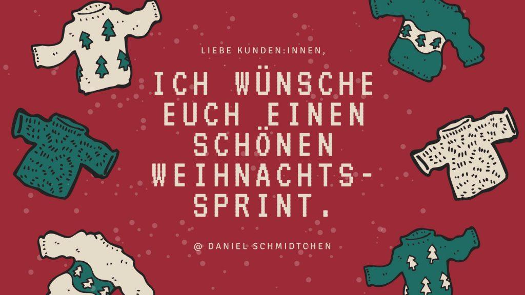 Frohen_Weihnachtssprint von DSConsult | Daniel Schmidtchen